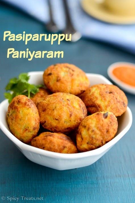 Pasiparuppu Paniyaram
