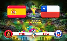 result vs Spain and Chile today 06/18/2014 World Cup