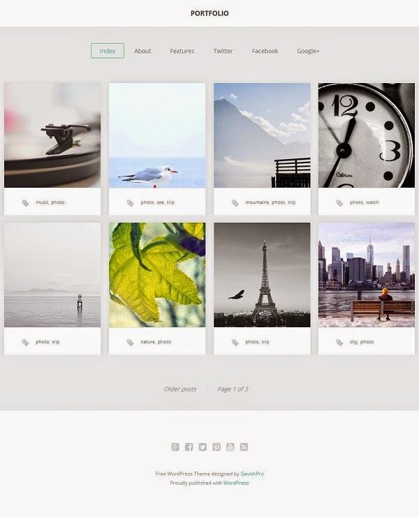 GK Portfolio - Free Portfolio WordPress Tema 2015   RETINAGRAF