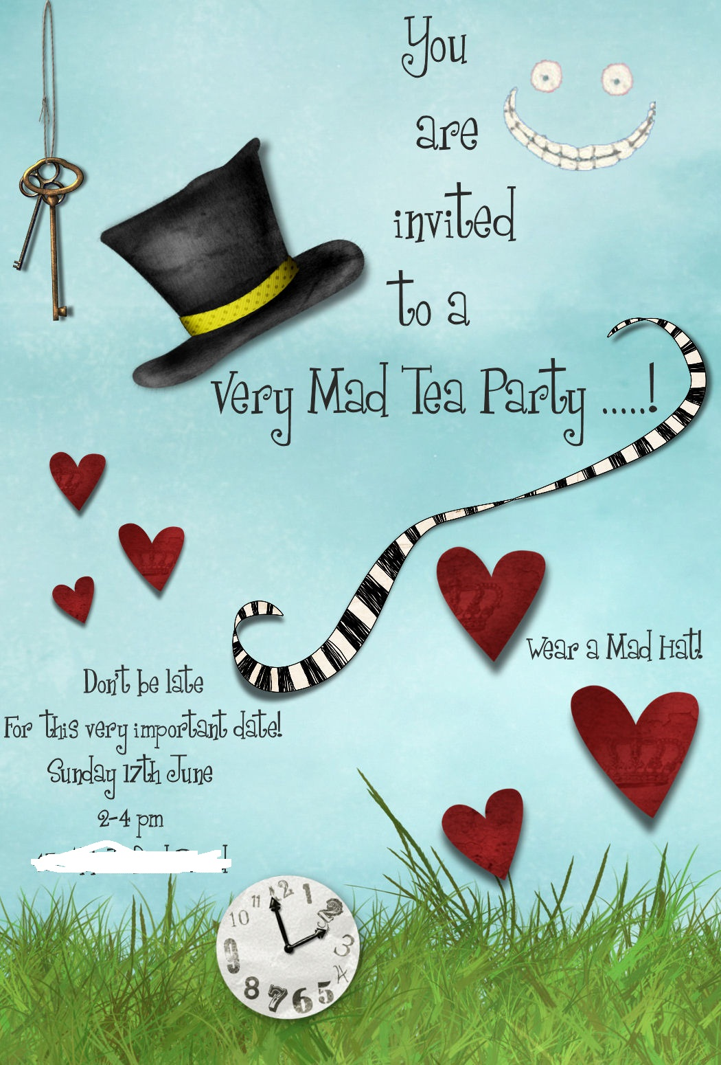 Mad Hatter Tea Party Invitation Template Free – Tea Party Invitations Templates Free