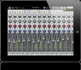 Auria iPad DAW app image from Bobby Owsinski's Big Picture blog