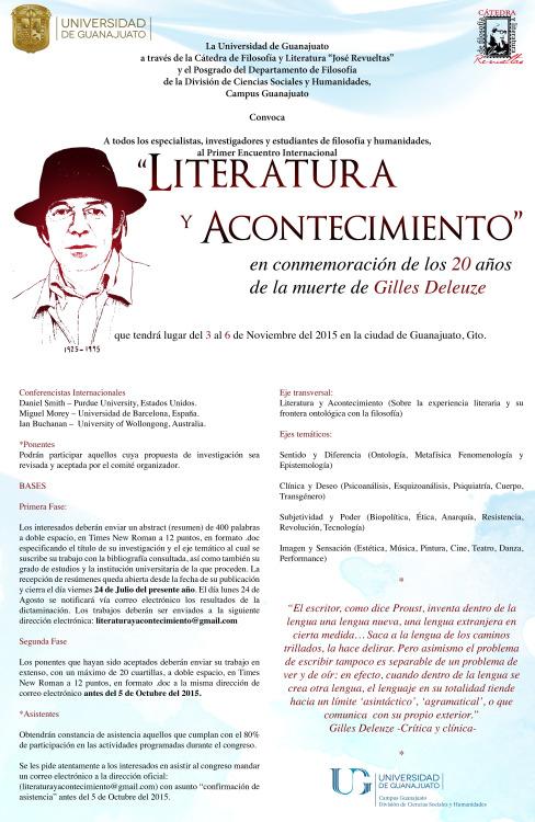 Literatura y acontecimiento