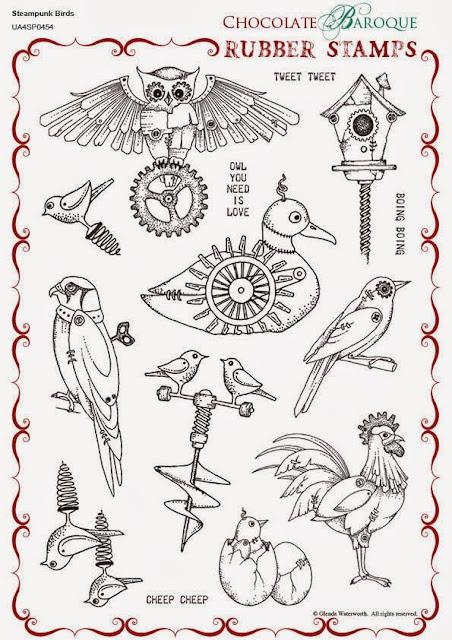 http://www.chocolatebaroque.com/Steampunk-Birds-Unmounted-Rubber-stamp-sheet--A4_p_5702.html