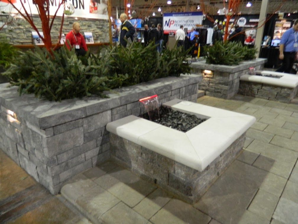 Landscape Ontario 2014 Congress interlocking paver fountain by garden muses-a Toronto gardening blog