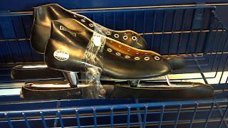 black ice skates for speed skating