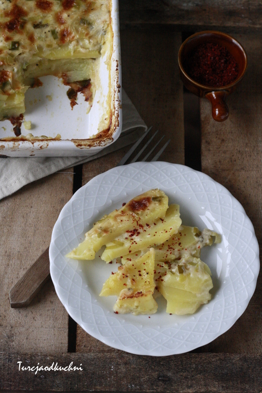 Zapiekanka ziemniaczana z porem / Prasalı patates graten