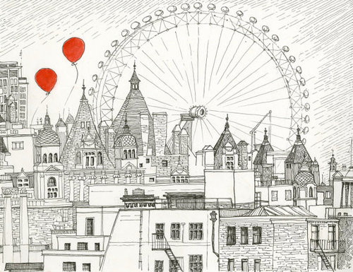 how to draw london city