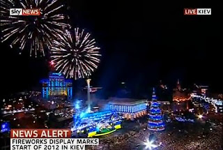 New Year 2012 Eve Ukraine Celebrations, Kiev, Independence Square -Travel Europe Guide