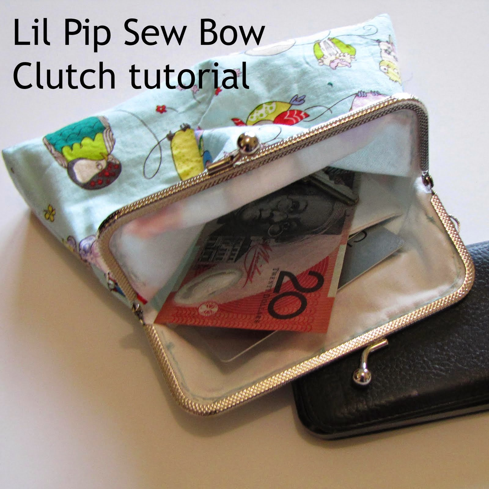 Lil Pip Sew Box Clutch tutorial