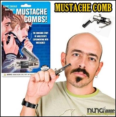 Switchblade Mustache Comb Sisisr Jenggot dan Kumis - Moustache Comb Mini Folding Comb