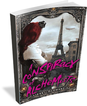 Book Cover A Conspiracy of Alchemists by Liesel Schwarz