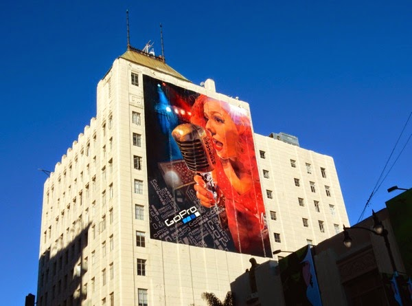 Giant GoPro singer billboard