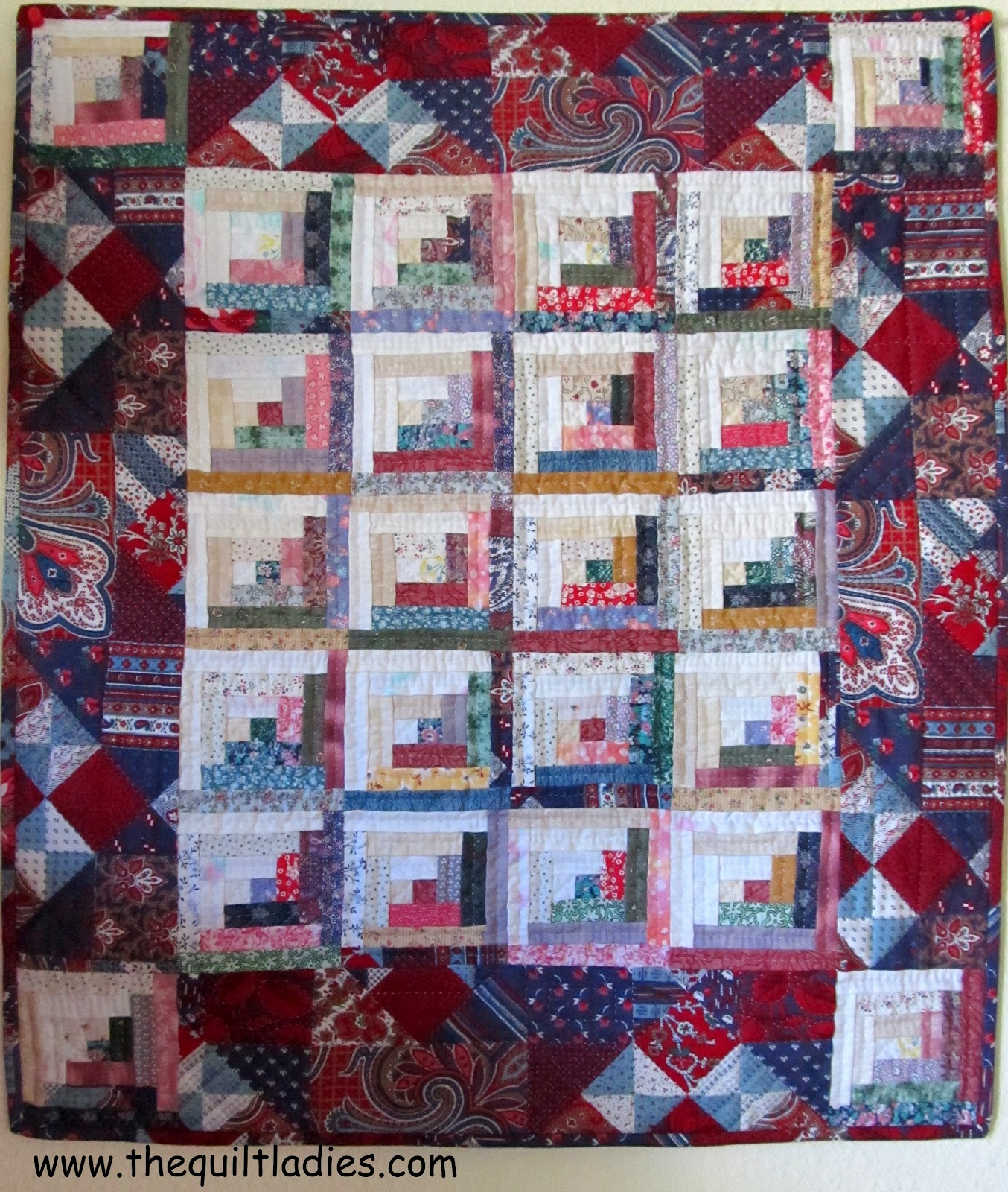 The Quilt Ladies Book Collection: Mini Log Cabin Quilt Pattern from The Quilt Ladies