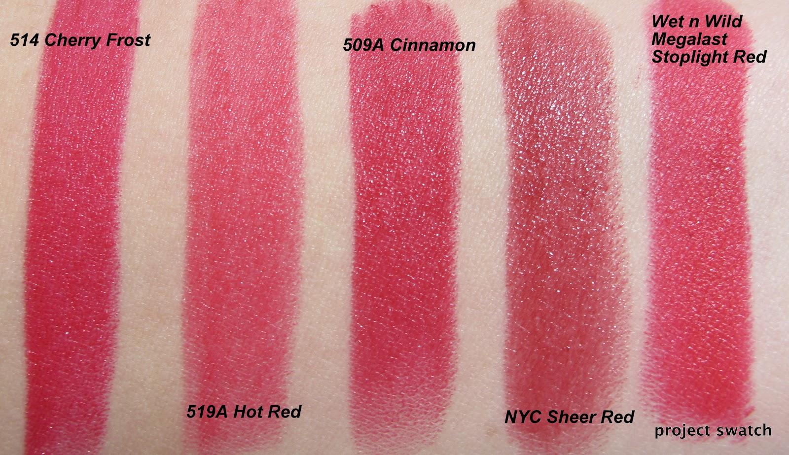 Wet n Wild Silk Finish Red Lipsticks Review, Swatches, Photos ...
