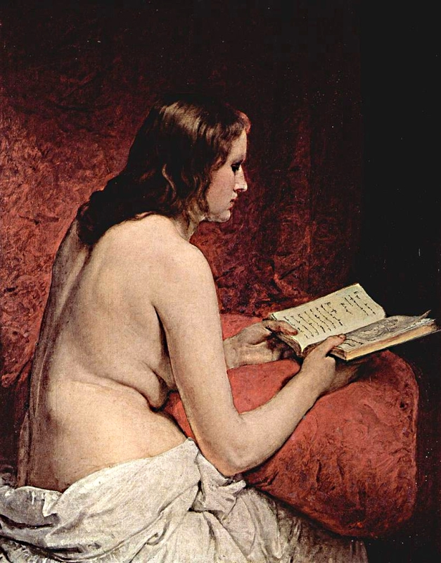 Odalisca amb llibre (Francesco Hayez)
