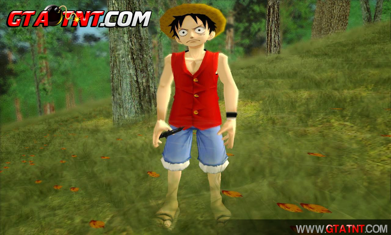 GTA SA - Mod The One Piece Monkey D. Luffy