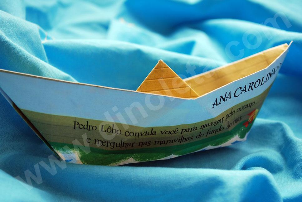 Convite Pedro 5 Anos Tema Fundo Do Mar Dinoleta