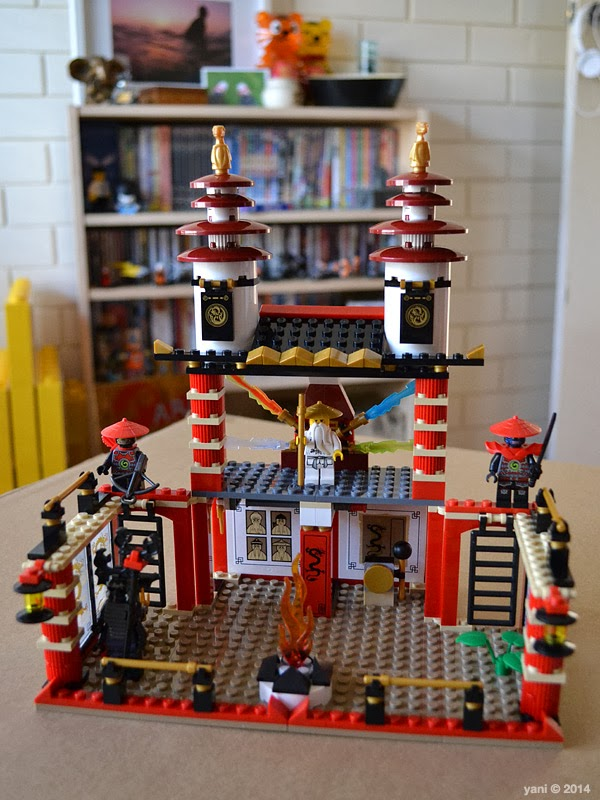 lego ninjago temple of light - the finished temple... i shoulda taken more pics during the build