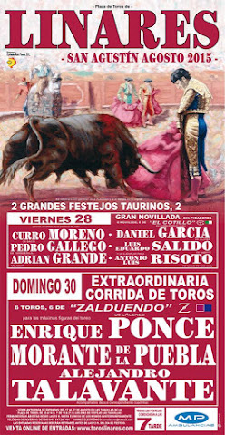Linares - Feria de San Agustín 2015 - Festejos taurinos