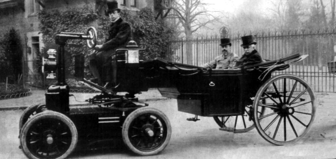 Just a car guy bridging the eras of horse drawn carriages for Car carriage
