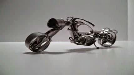 14 kreasi keren sepeda motor dari sendok garpu