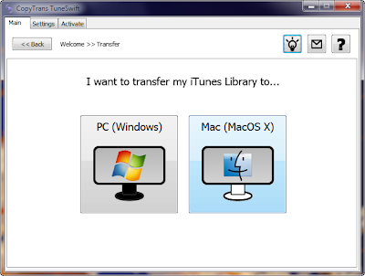 transfer iTunes from pc to mac