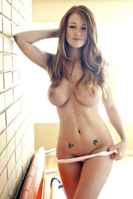 Leanna Decker topless stripping her panty off