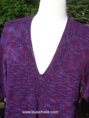 Knitting Plus - Seagirt Pullover front neckline