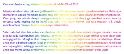 Memberi warna gradient pelangi pada teks