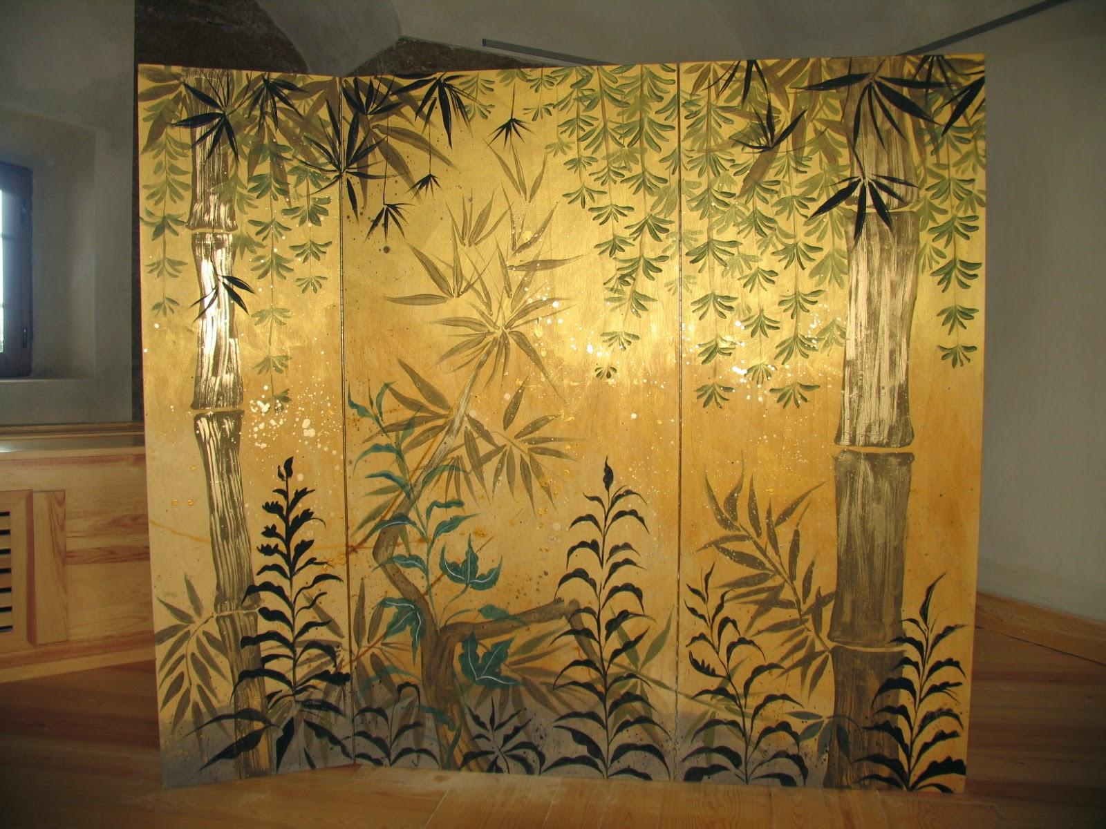Biombos inspirados en el período EDO