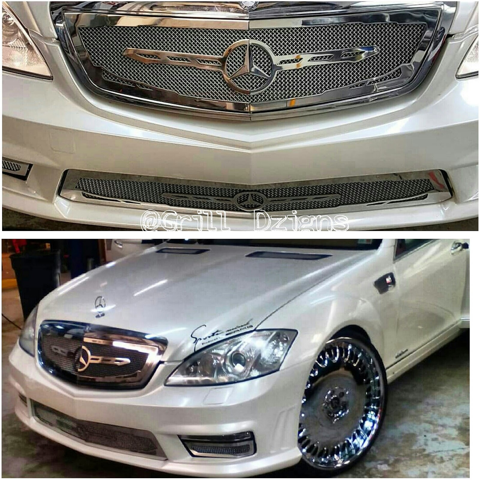 Ace 1 mercedes s550 grill done by grill dzigns call for Call mercedes benz