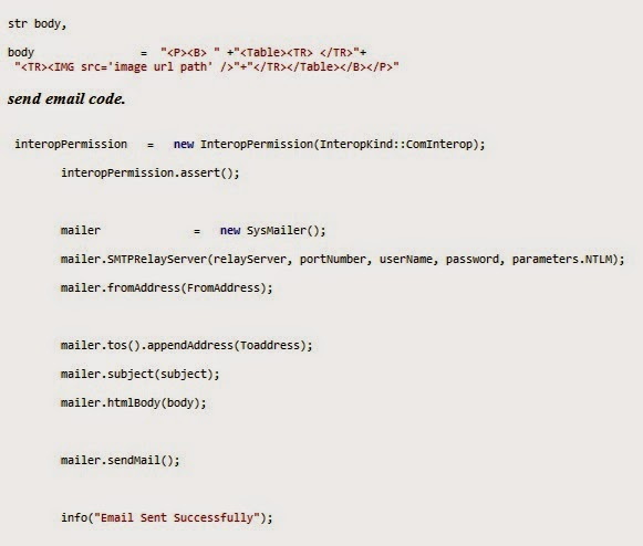 code to Send Image in Email using axapta 2012
