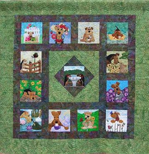 Garden Party - the 2012 Airedale Rescue Quilt