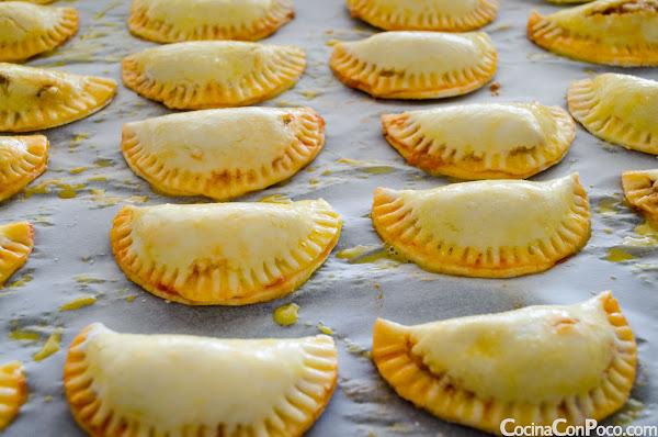 Empanadillas de atun y pisto al horno - Receta paso a paso - Sin Gluten