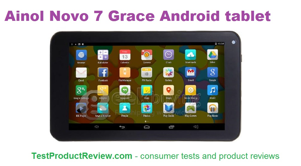 Ainol Novo 7 Grace 7 inch Android tablet - Test and Review