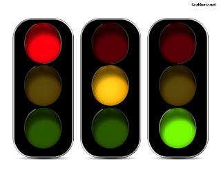 trafik ışıkları simgelerini PSD