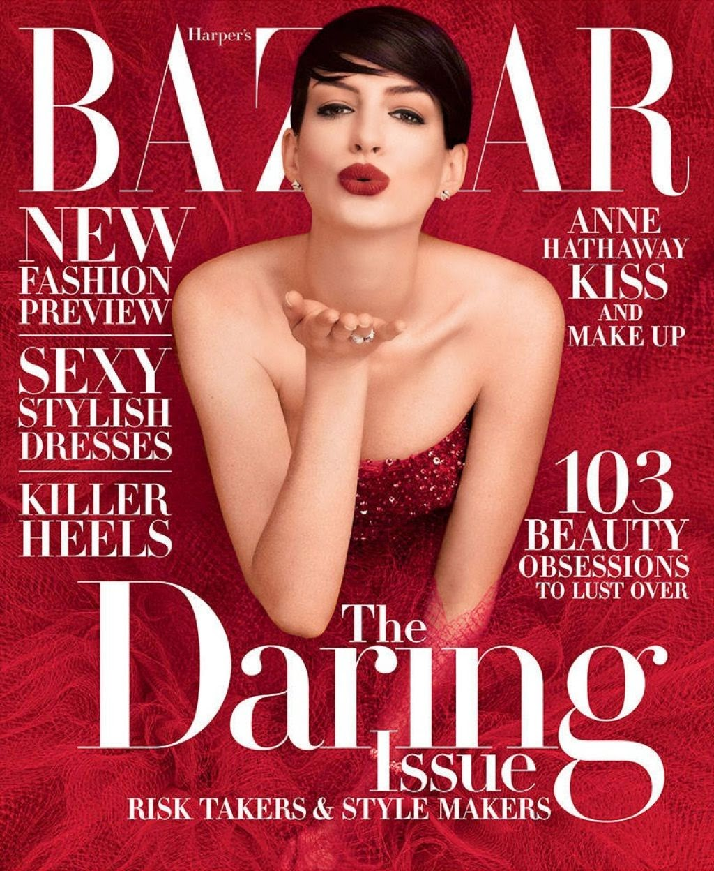 Anne Hathaway – Harper's Bazaar Magazine November 2014 Issue