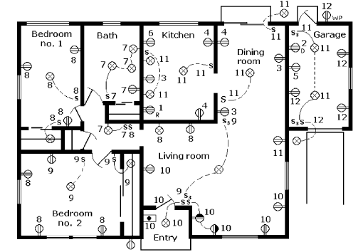 house electrical wiring drawings electrical plan drawings #3
