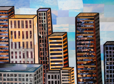 Downtown collage by collage artist Megan Coyle