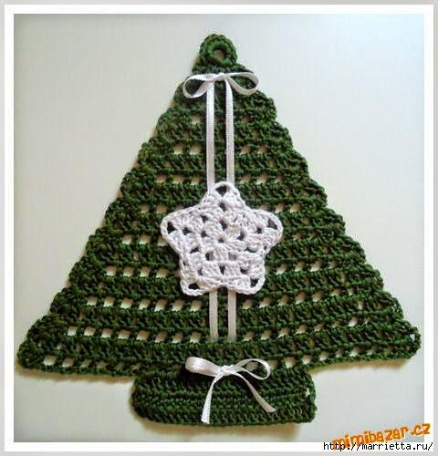 Pino navideño tejido al crochet con diagrama