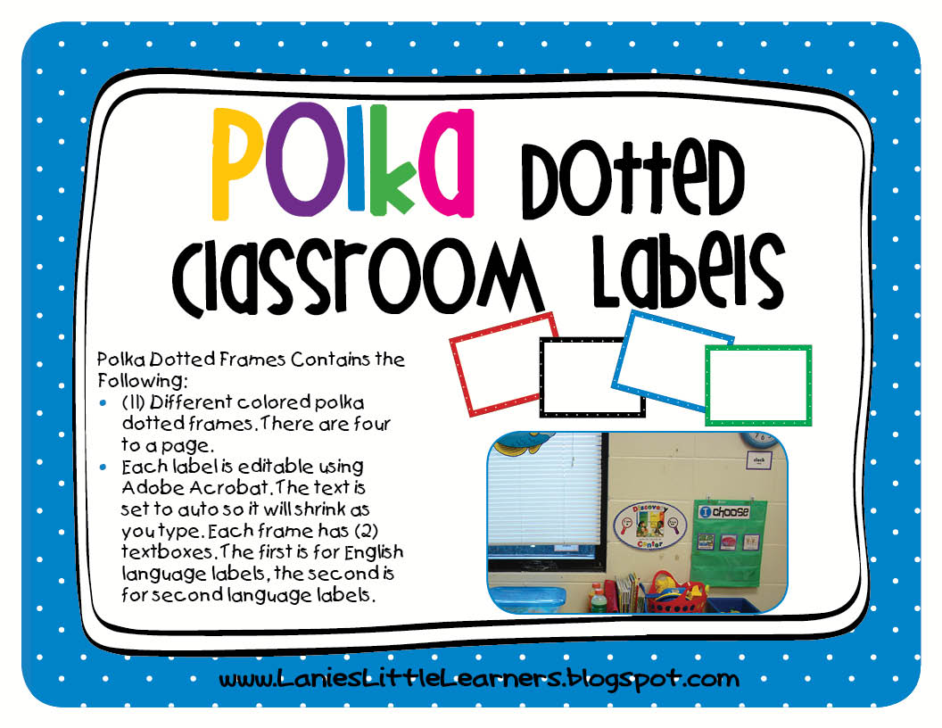 Lanie 39 s little learners freebies for Room labels