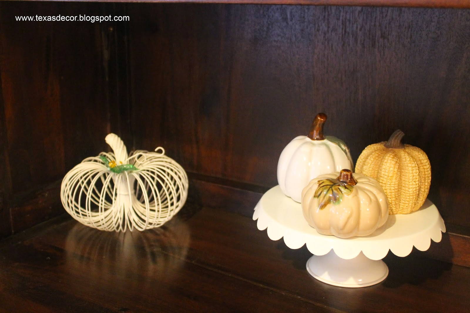 using neutral colors in autumn decor
