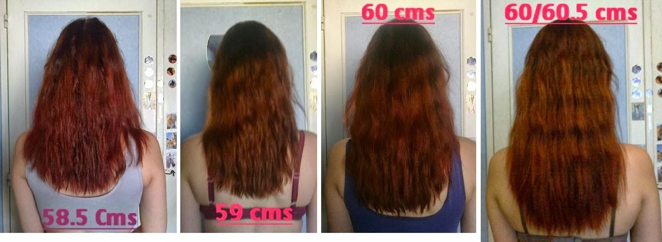 Pousse des cheveux en 1 ans