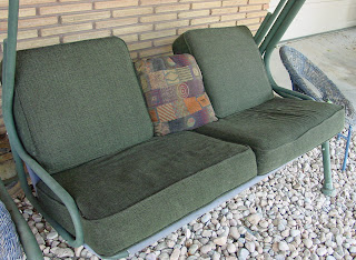 porch swing with sofa cushions