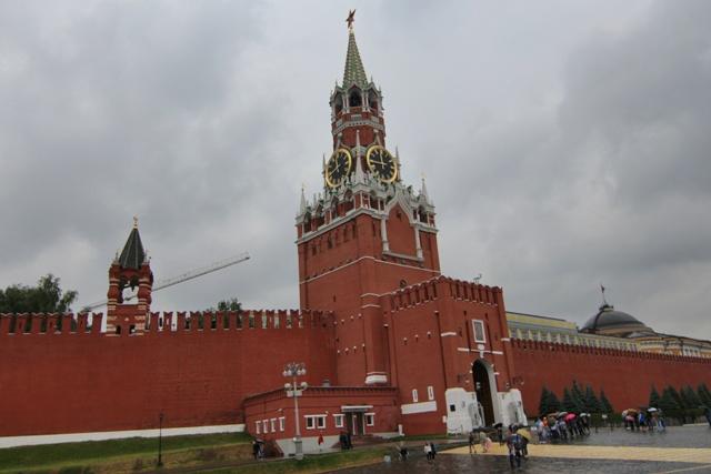 Torre de el Salvador en el Kremlin de Moscú
