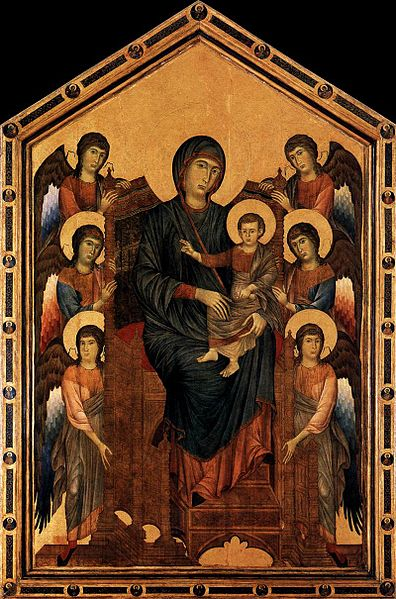 comparison between the enthroned madonna with This icon is known as the kahn madonna from the name of the previous owner   there are several similarities in terms of style and theme between this painting.