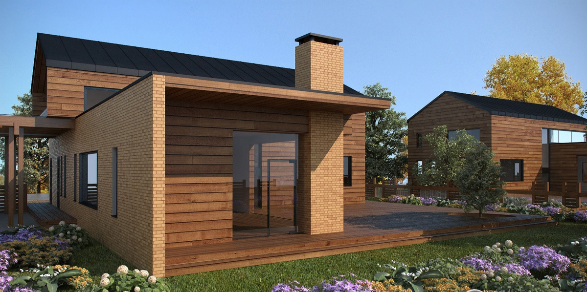 3d front beautiful house of america german for German home designs