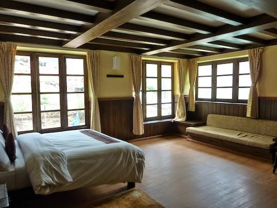 Yeti Mountain Home bedroom on the Everest Base Camp Trek