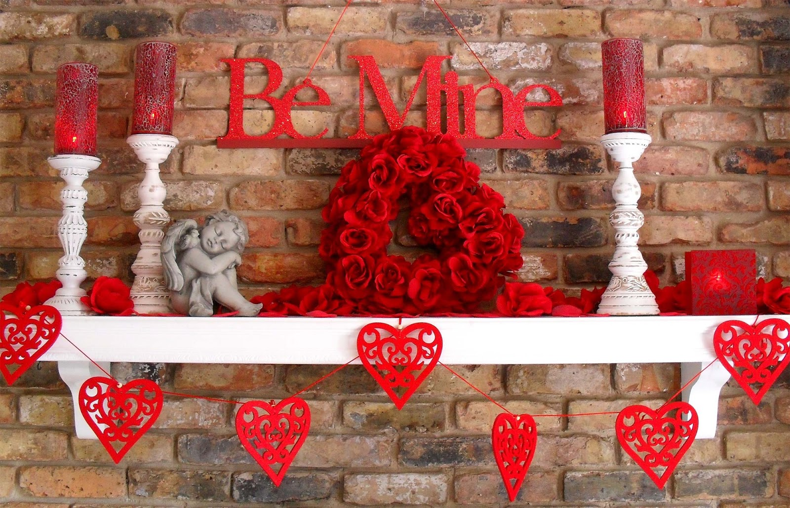 Valentine 39 s day decorations ideas 2016 to decorate bedroom for Decorate for valentines day