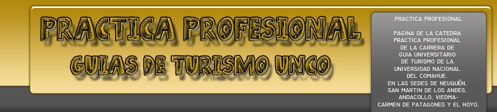 PRACTICA PROFESIONAL GUIAS DE TURISMO UNCO